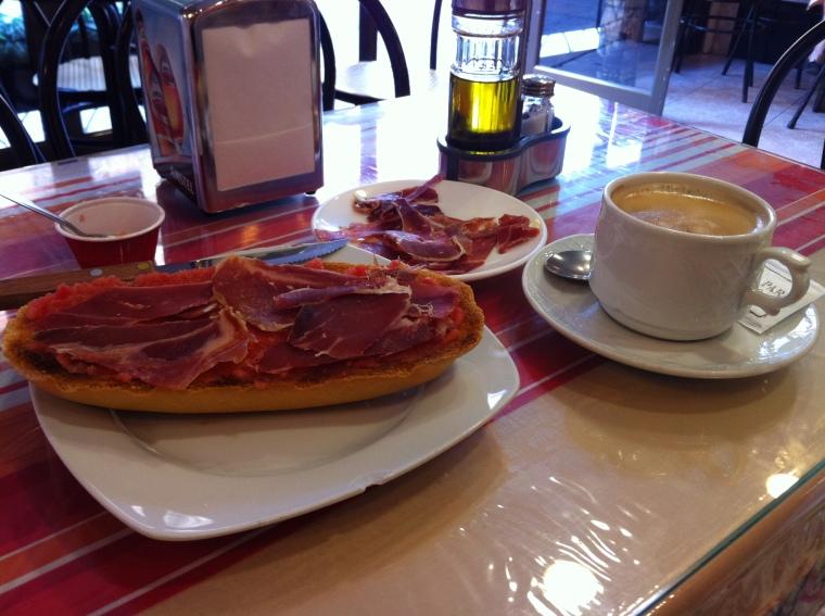 Breakfast, Cordoba style.
